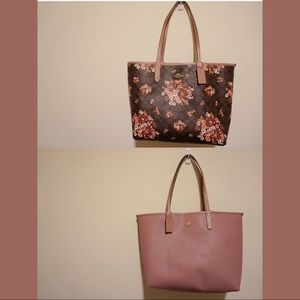 COACH Tote Dusty Pink with Floral Print
